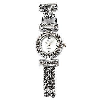 Eton Womens Grey Stone Set Bracelet Watch, Real MOP Dial - 3058L-GY