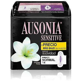 Ausonia Normal Sensitive Pads with Wings 12 uds