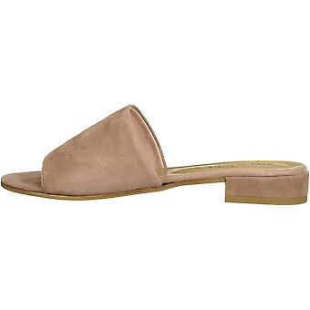 Bella Vita Women's TES-Italy Slide Sandal Shoe, Blush Italian Suede Leather, ...