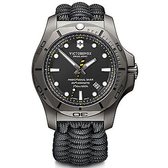 Victorinox I.N.O.X Professional Divers Titanium Case Black Paracord Strap Mens Watch 241812