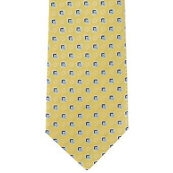 Michelsons di Londra diamante Motif poliestere cravatta - giallo