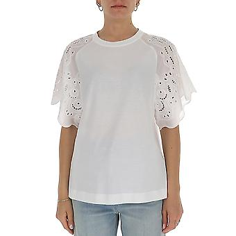 Alberta Ferretti 07020172a0001 Women's White Cotton T-shirt