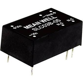 Keskimääräinen No SLC03C-15 DC/DC-muunnin (moduuli) 200 mA 3 W Ei. lähtöjen määrä: 1 x
