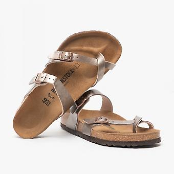 Birkenstock Mayari 1016408 (reg) Ladies Birko-flor Cross Strap Sandals Graceful Taupe