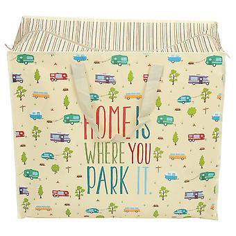 Camper W'schetasche XL Home Is Where You Park It crème/multicolor, impreso, portando bolsa hecha de 100% polipropileno.
