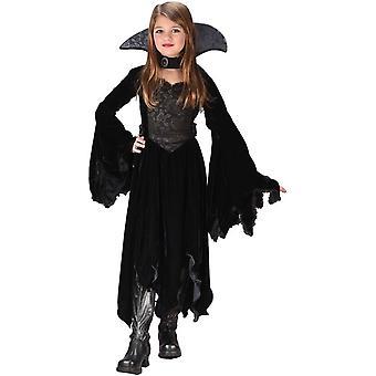 Natt Vampiress barn kostym