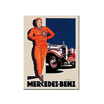 Mercedes Benz Vintage Car - Nostalgic Metal Magnet - Cracker Filler Gift