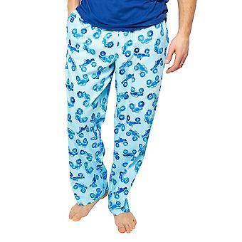 Cyberjammies Dylan 6508 Men's Blue Mix Monter Truck Print Pyjama Pant