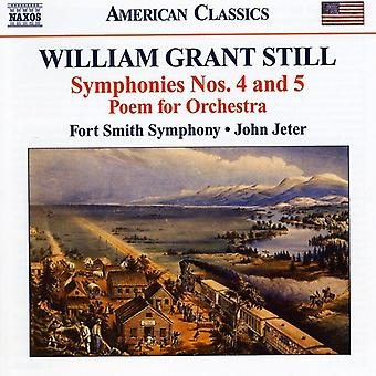 W.G. Still - William Grant Still: Symphonies Nos. 4 & 5; Poem for Orchestra [CD] USA import