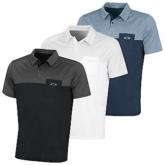 Oakley Mens 2020 Geblokkeerd Gravity Heathered UV Protection Golf Polo Shirt