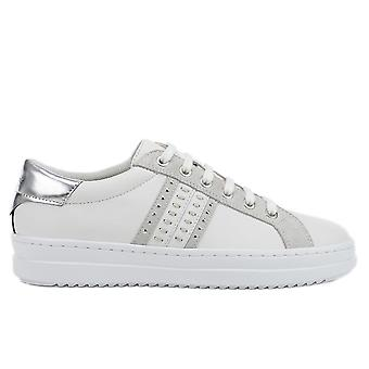 Geox d pontoise trainers womens silver, white