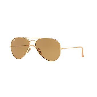 Ray-Ban Aviator RB3025 9064/4I Złote/Fotochromiczne brązowe okulary przeciwsłoneczne