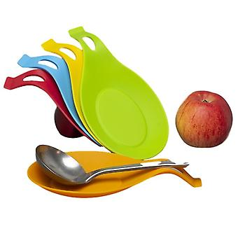 Food Grade Silicone Spoon Mat - Heat Resistant Place Mat Tray Spoon Pad