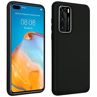 Huawei P40 Semi-Rigid Silicone Soft-Touch Finish Back cover Black