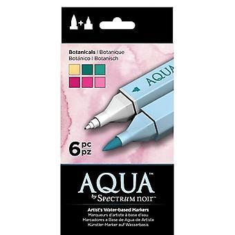 Spectrum Noir Spectrum Aqua Markers Botanicals (6pc) (SPECN-AQ6-BOT)