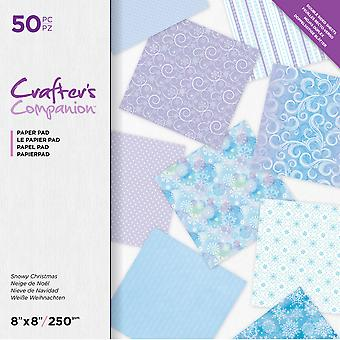 Crafter's Companion Snowy Christmas 8x8 Inch Paper Pad