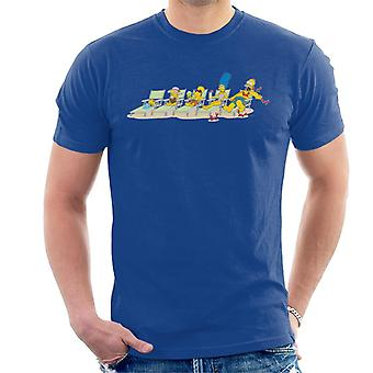 The Simpsons Family Sunbeds Men's T-Shirt