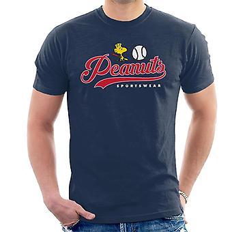 Peanuts Baseball Woodstock Męska koszulka
