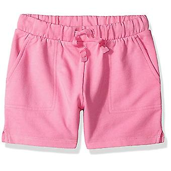 Brand- LOOK by Crewcuts Girls' Knit Short, Pink, Medium (8)