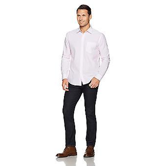 Essentials Men's Regular-Fit Long-Sleeve Stripe Casual Poplin Shirt, W...
