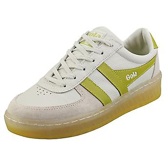 Gola Grandslam 89 Womens Fashion Trainers in Off White Green