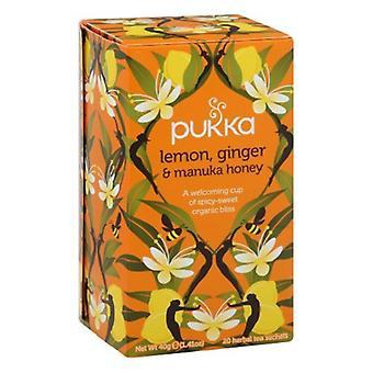 Pukka Organic Lemon, Ginger & Manuka Honey Herbal Tea