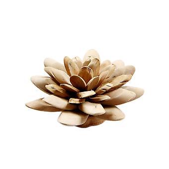 Wooden Lotus Flower Shapes Craft Decoration Medium