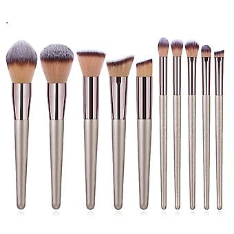 Champagner Make-up Bürsten Set Foundation Pulver erröten Lidschatten Concealer