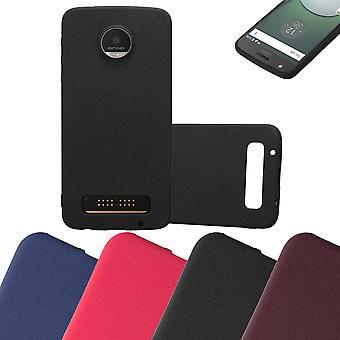 Cadorabo fallet för Motorola MOTO Z PLAY Case Cover-mobiltelefon fall tillverkad av flexibla TPU Silikon-silikonfodral skyddande fodral Ultra Slim soft tillbaka täcker fallet stötfångare