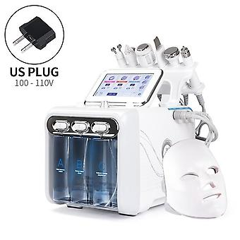 7 In 1 Water Dermabrasion Machine With Led Facial Mask Deep Cleansing Water Jet Hydro Diamond Facial Clean For Salon