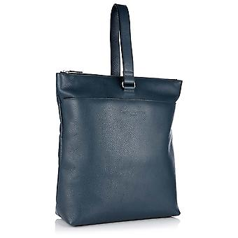 Molly Leather Tote Backpack in Petrol Richmond Chrome Free Leather