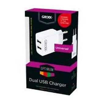 Grixx Optimum Travel Adapter 2 X Usb Universal
