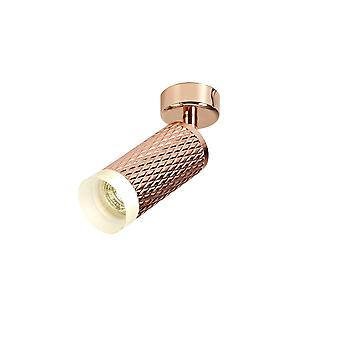 Oświetlenie Luminosa - 1 światło montowane na powierzchni reflektora GU10, różowe złoto, pierścień akrylowy