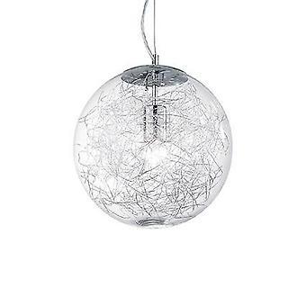 Ideale Lux Mapa Max - 1 lichte grote globe plafondhanger chrome, E27