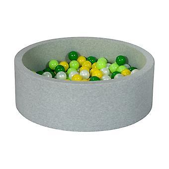 Ball pit 90 cm z 200 kulkami z pereł, żółty, zielony i jasnozielony
