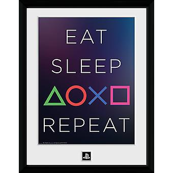PlayStation Eat Sleep Repeat Collector Print