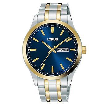 Lorus Mens Two Tone armband jurk horloge met blauwe wijzerplaat (model nr. RH342AX9)