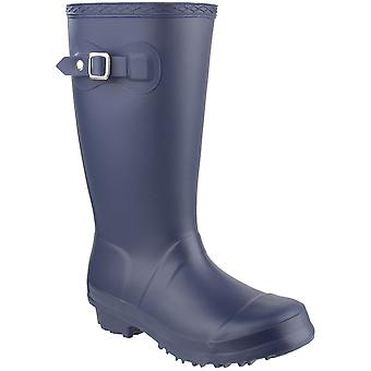 Cotswold jenter Buckingham PVC spenne Welly Wellington Boot marinen