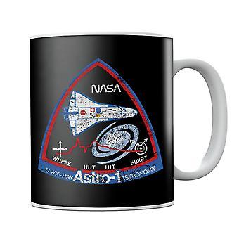 NASA ASTRO 1 Observatory STS 35 Mission Badge Distressed Mug