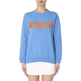 Alberta Ferretti 170116760297 Women's Light Blue Cotton Sweatshirt