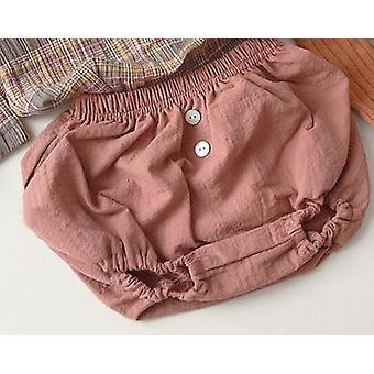 Nyfødte Baby Boys / Piger Bomuld Linned Shorts Kids Harem Pants-Spædbarn Short
