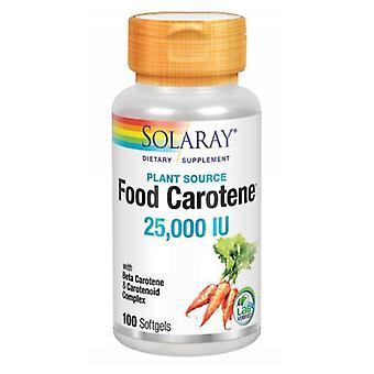 Solaray Food Carotene, 25.000 IU, 100 Softgels
