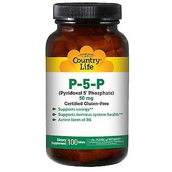 Country Life P-5-P Pyridoksaali 5 Fosfaatti, 50 mg, 100 kielekettä