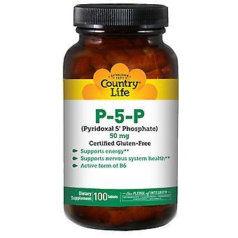 Country Life P-5-P Pyridoxal 5 Fosfaat, 50 mg, 100 tabbladen
