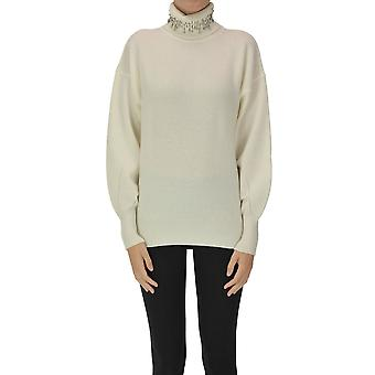 Pinko Ezgl016495 Women's White Wool Sweater