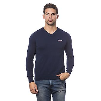 Roberto Cavalli Sport Navy Blue Long Sleeve Sweater