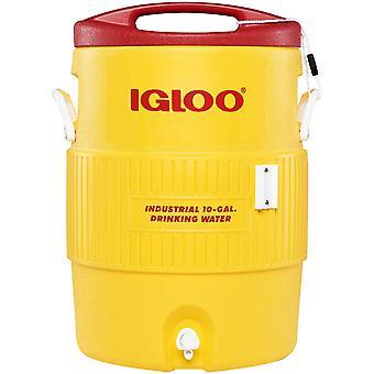 IGLOO 10 Gallon Industrial Heavy-Duty Beverage Cooler - Yellow