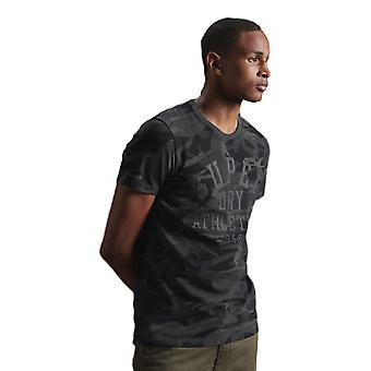 Superdry Black Out Tee - Black Camo