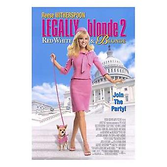 Oikeudellisesti blondi 2 punainen valkoinen blondi elokuvajuliste (11 x 17)
