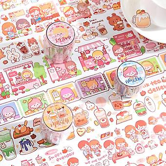I Like Milk Tea Series Lovely Cute Fresh Decorative White Ink Pet Tape